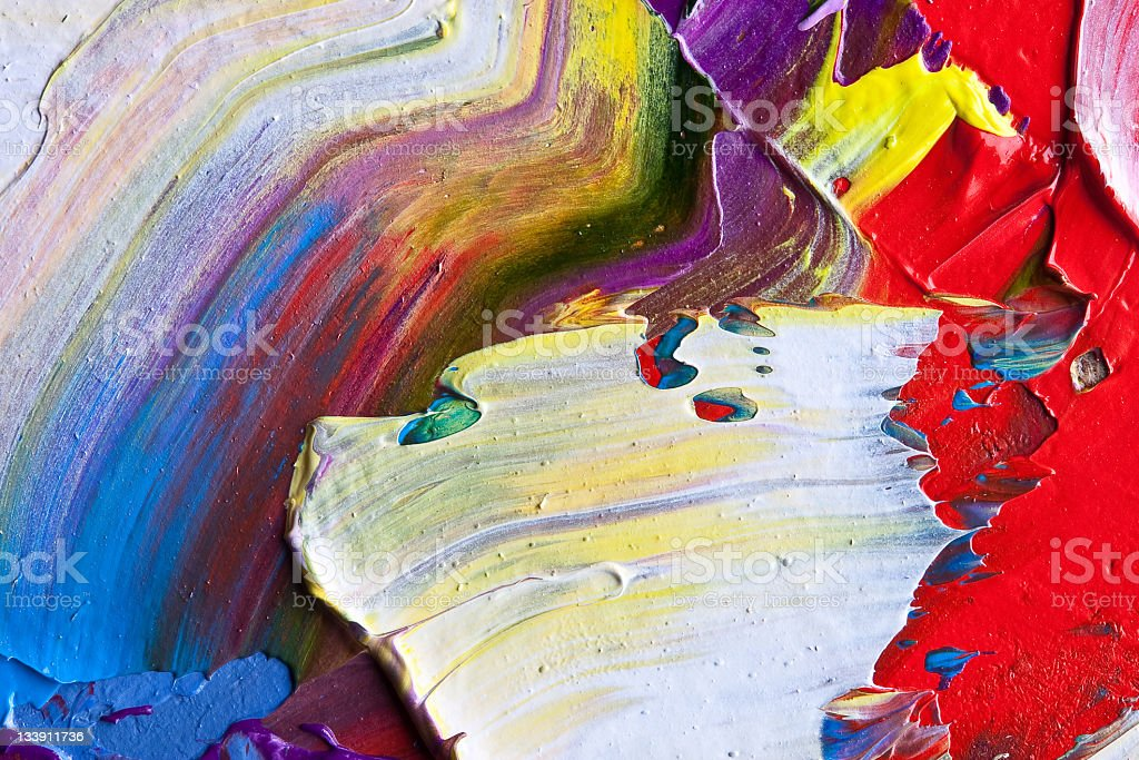 Colored Oil Canvas royalty-free stock photo