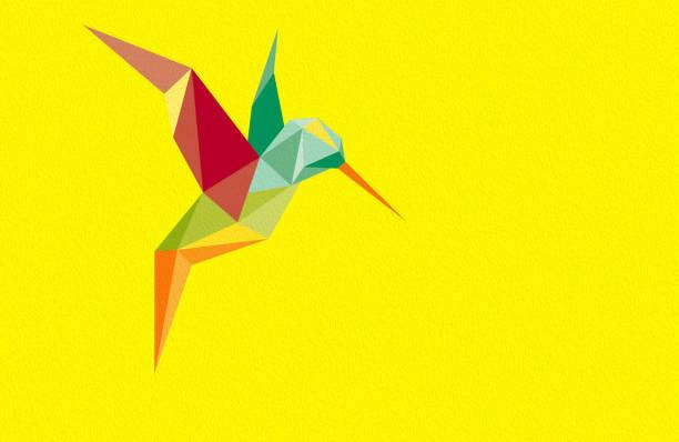 Origami hummingbirds Royalty Free Vector Image   398x612