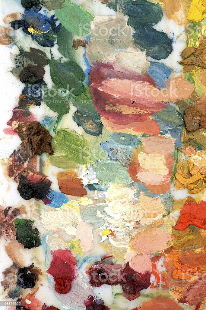 colored palette royalty-free stock photo