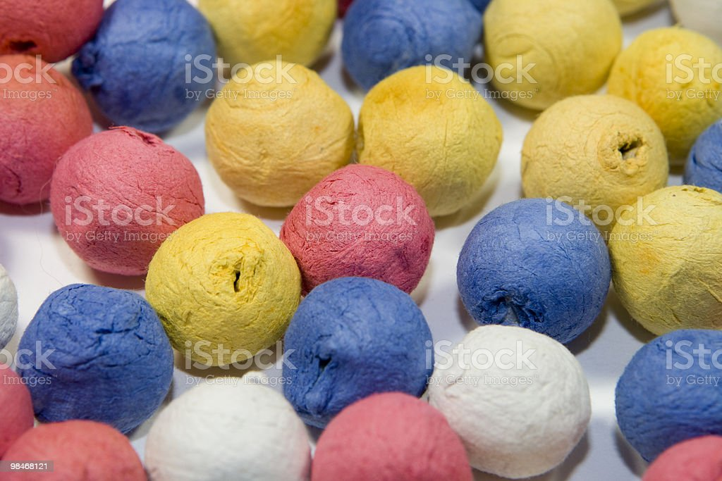 Colored paper balls royalty-free stock photo