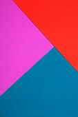 Colored paper in a geometric flat composition.
