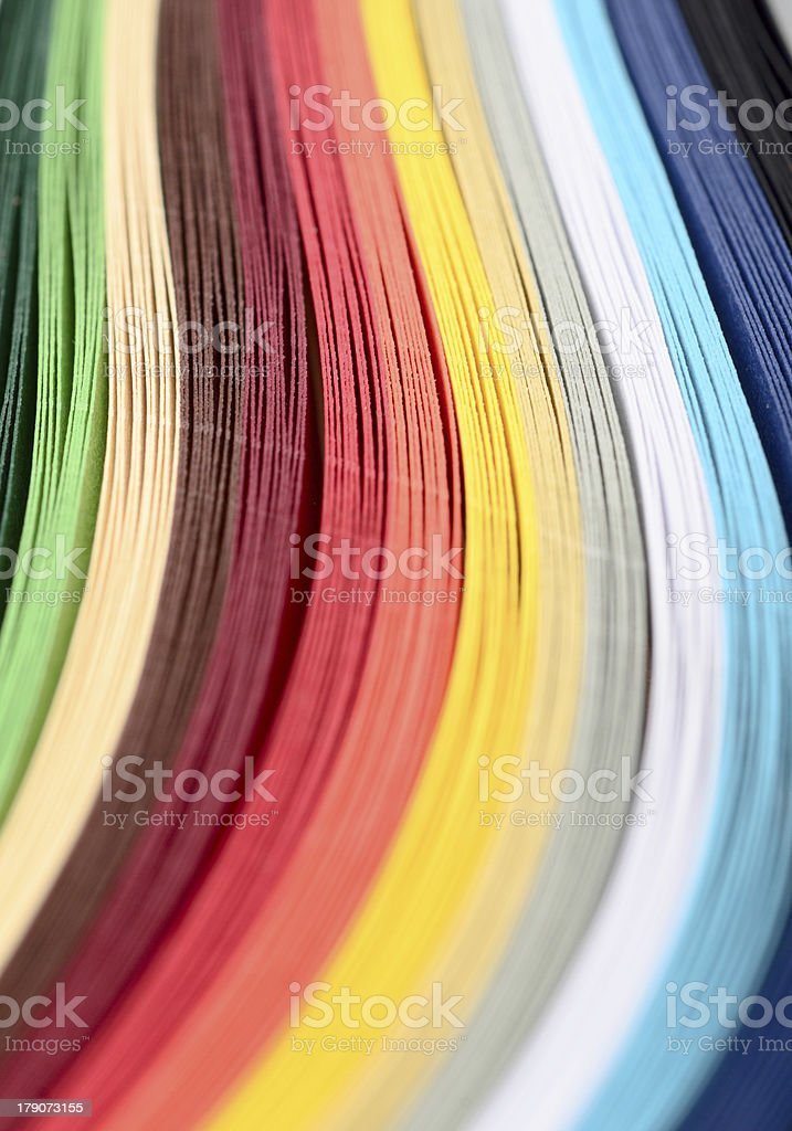 Colored paper royalty-free stock photo