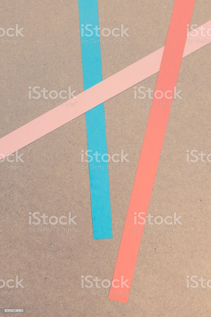 colored paper stripes. stock photo