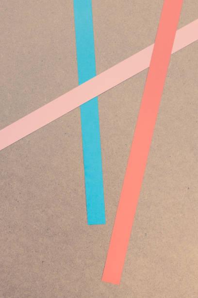 colored paper stripes. stock photo