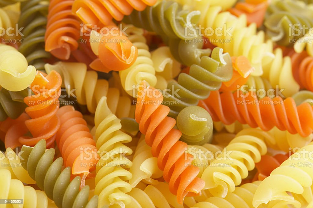 colored pasta close royalty-free stock photo