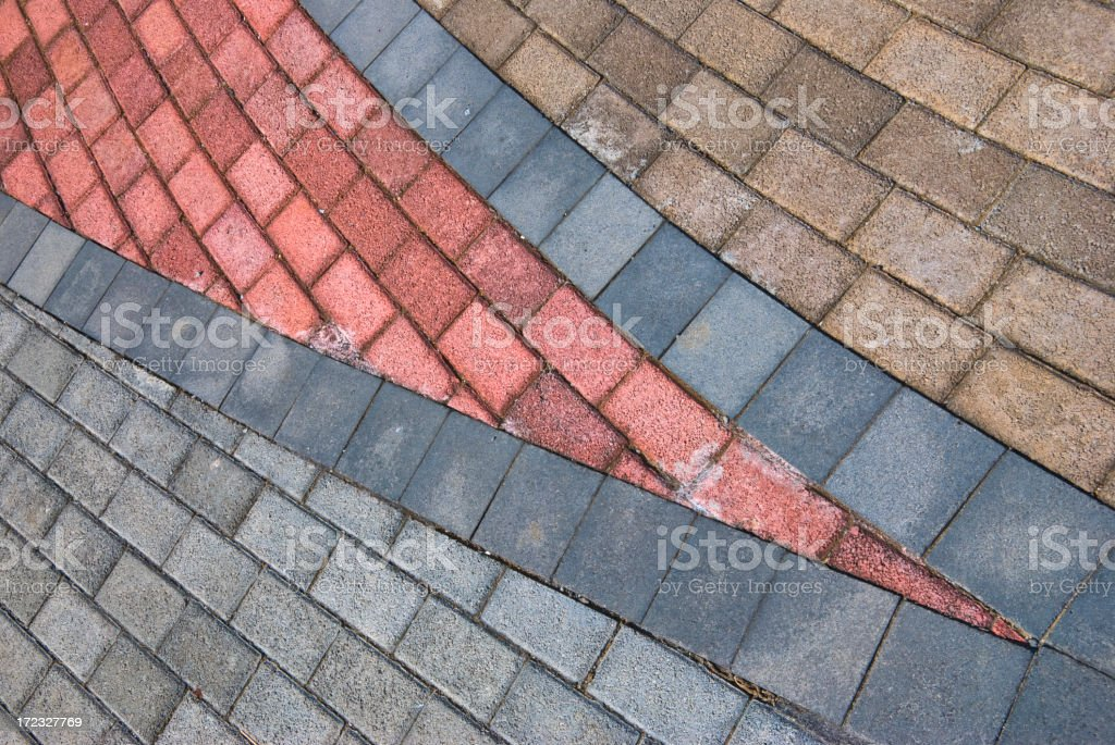 Colored pavement 3 royalty-free stock photo