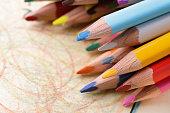 Colored Pencil close up