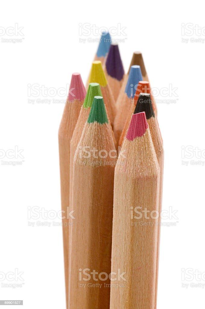 colored pencil closeup royalty-free stock photo
