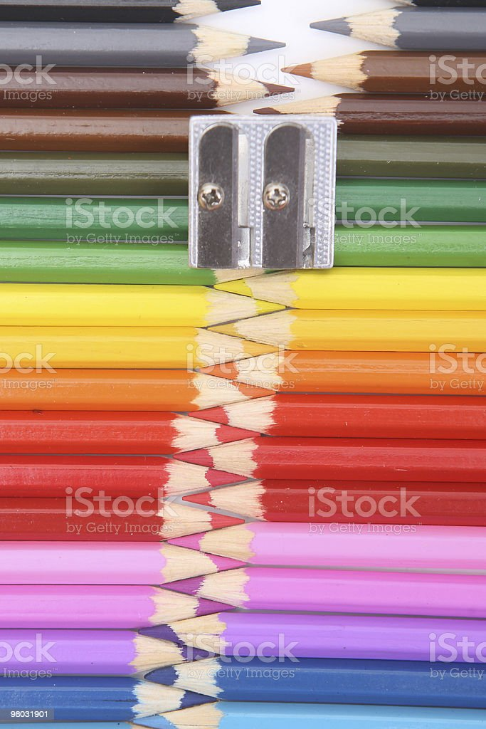Colored pencil zipper royalty-free stock photo