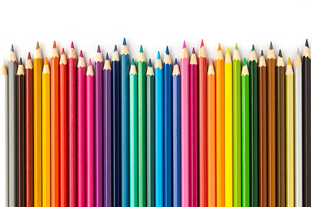 colored pencils 2 - pencil stock photos and pictures
