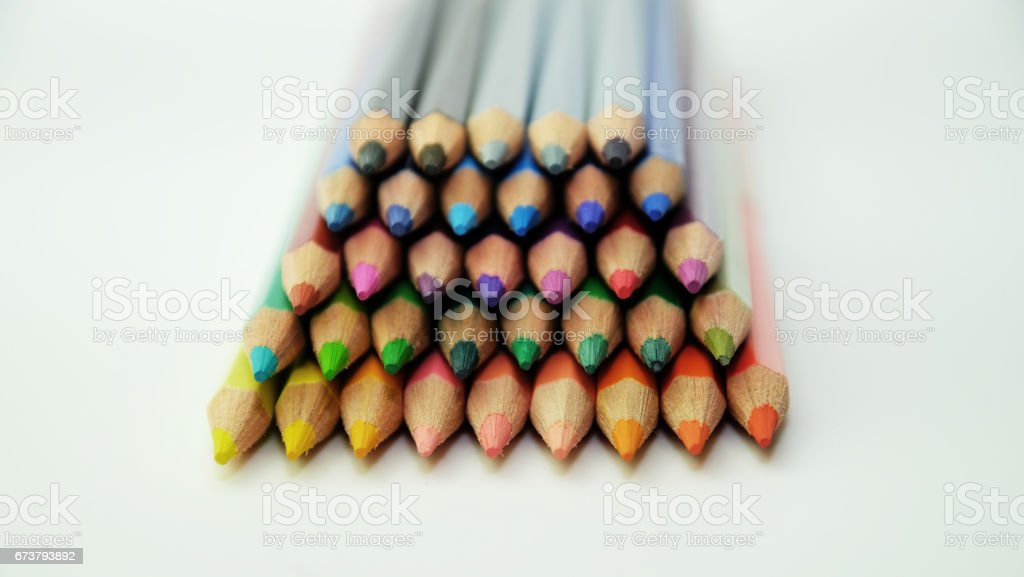Colored pencils as wallpaper royalty-free stock photo