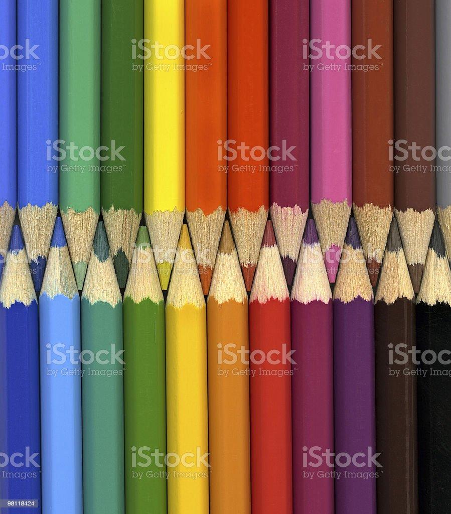 채색기법 연필 배경기술 royalty-free 스톡 사진