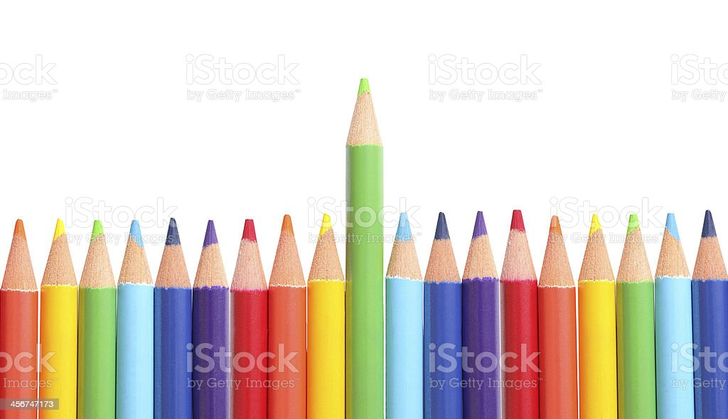 Colored pencils isolated royalty-free stock photo