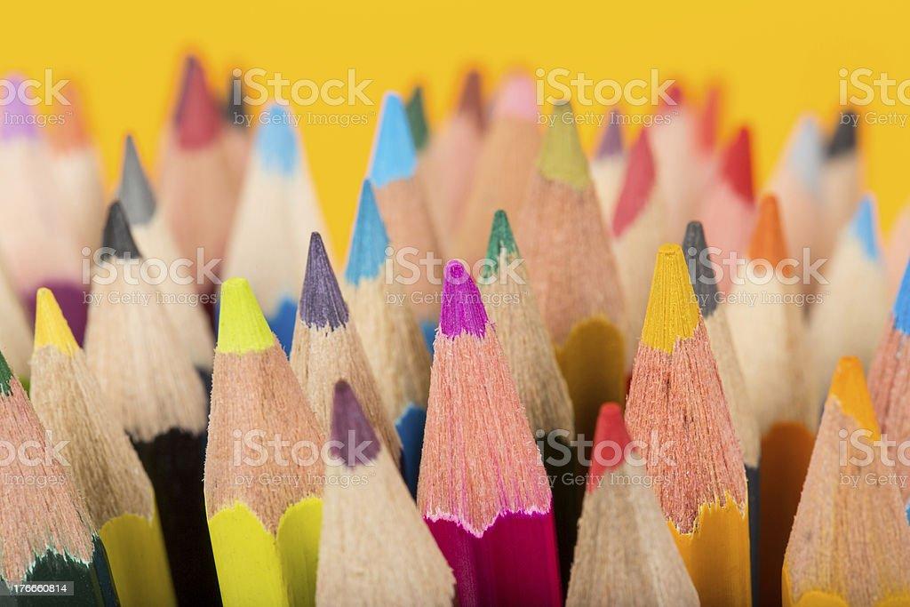 Lápices de color foto de stock libre de derechos
