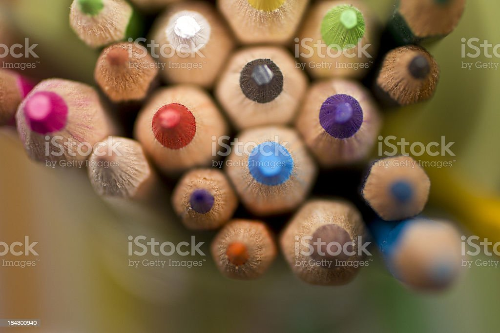 Colored pencils - Royalty-free Art Stock Photo