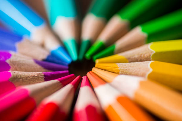 colored pencils - coloured pencil stock photos and pictures