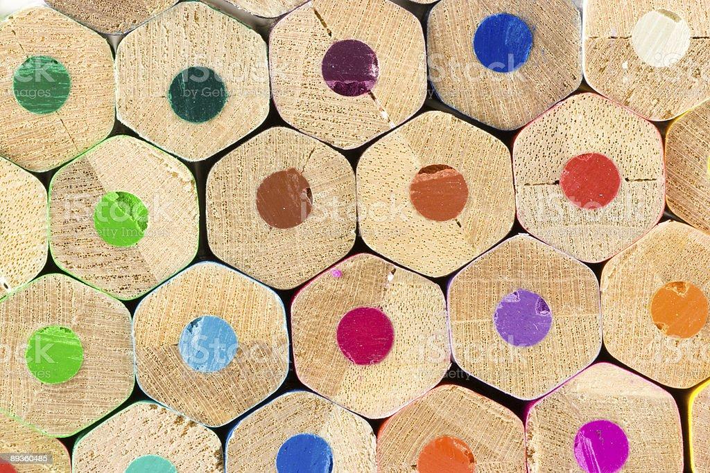 Kolorowe ołówki zbiór zdjęć royalty-free