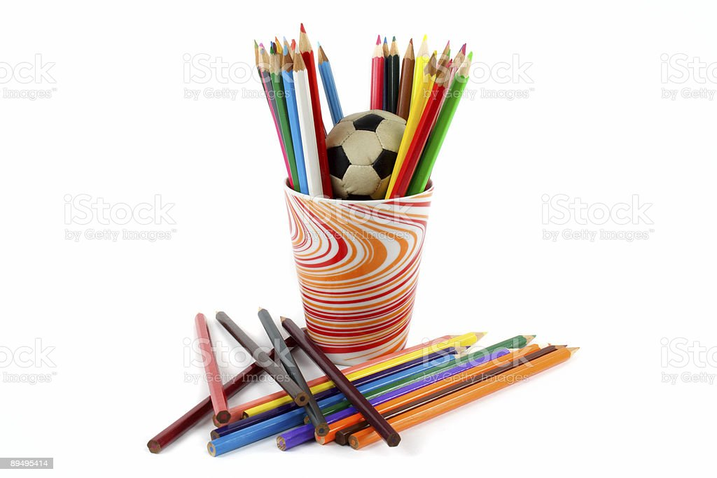 colored pencils royalty free stockfoto