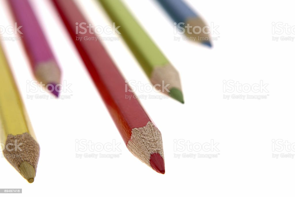 Colored pencils royaltyfri bildbanksbilder