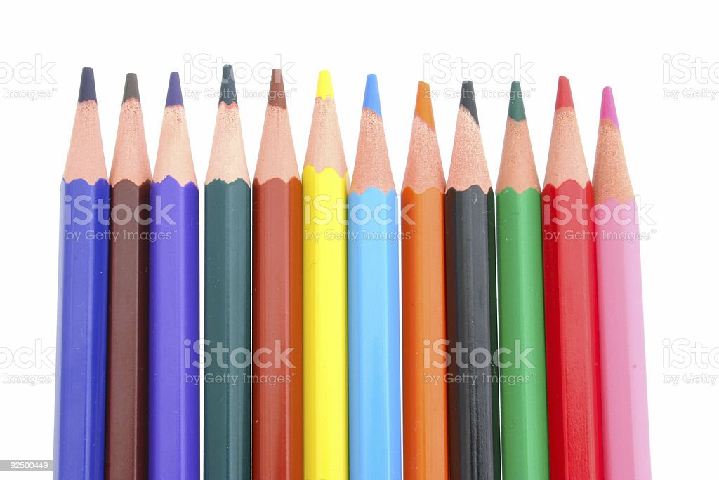 Colored Pencils #4 royalty-free stock photo