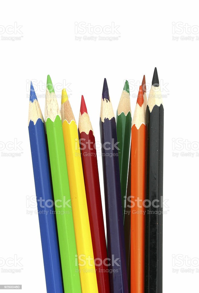 Colored Pencils #6 royalty-free stock photo