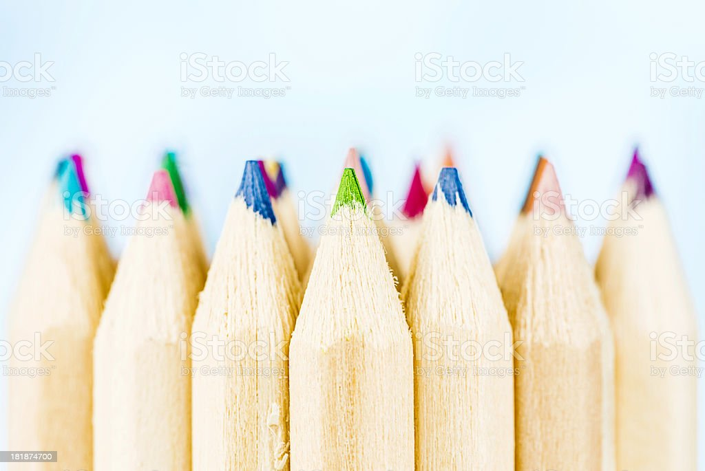 Colored Pencils with Copy Space royalty-free stock photo