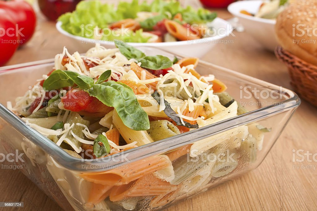 colored penne pasta royalty-free stock photo