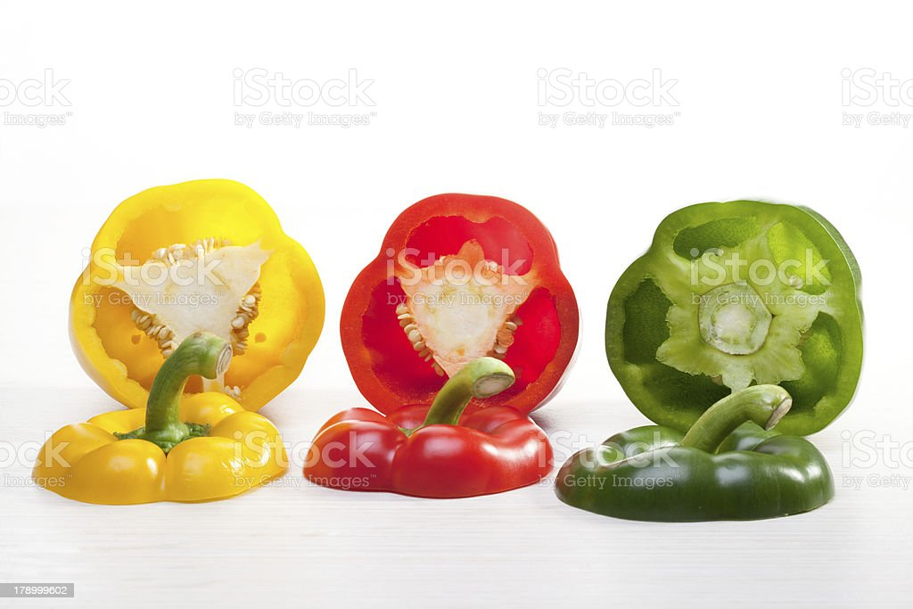 colored peppers royalty-free stock photo