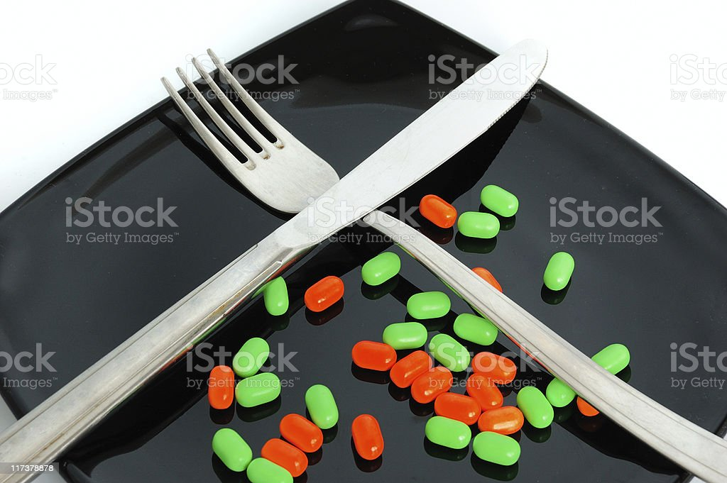 colored pills royalty-free stock photo
