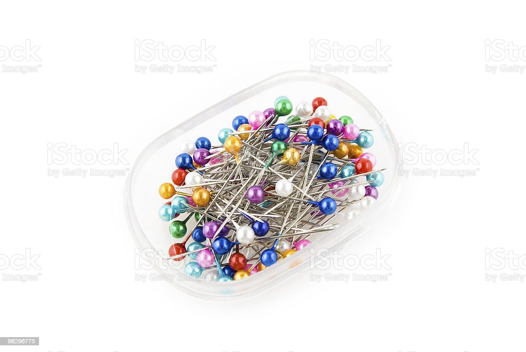 colored pins royalty-free stock photo