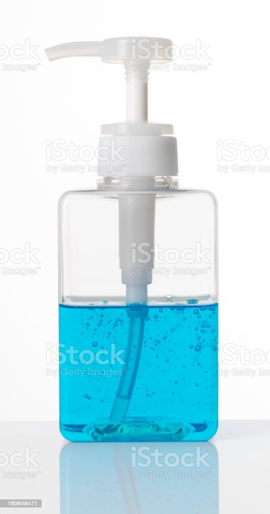 Colored plastic detergent bottle royalty-free stock photo