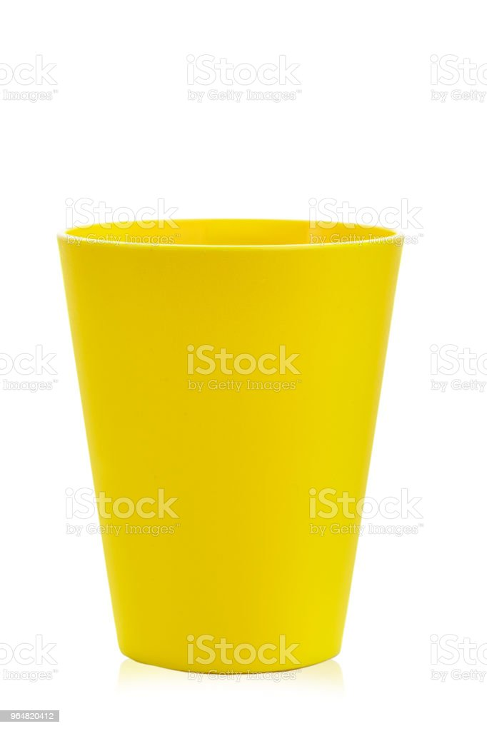 colored plastic glass for children's holiday on a white background isolated. royalty-free stock photo