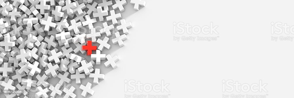 Colored plus symbols background stock photo