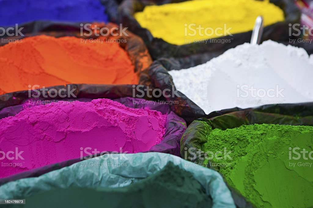 Colored powder, abir royalty-free stock photo