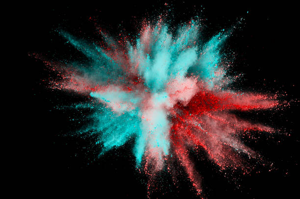 Colored powder explosion. Abstract closeup dust on backdrop. Colorful explode. Paint holi Colored powder explosion. Abstract closeup dust on backdrop. Colorful explode. Paint holi burst stock pictures, royalty-free photos & images