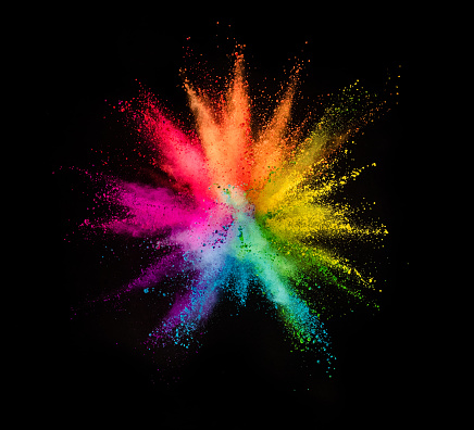 istock Colored powder explosion on black background 1057506940