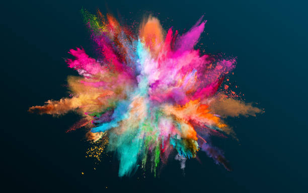 Colored powder explosion on black background. Colored powder explosion on black background. Freeze motion. exploding stock pictures, royalty-free photos & images