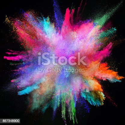 857348256istockphoto Colored powder explosion on black background 857348900