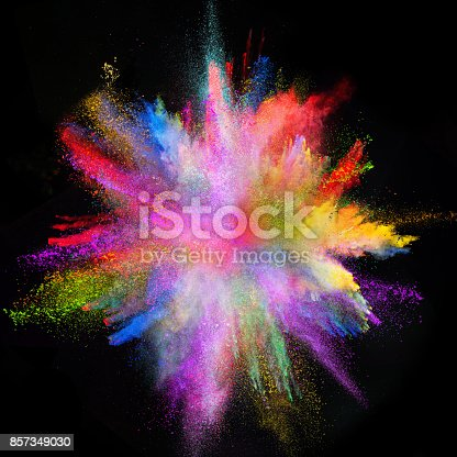 857348256istockphoto Colored powder explosion on black background 857349030