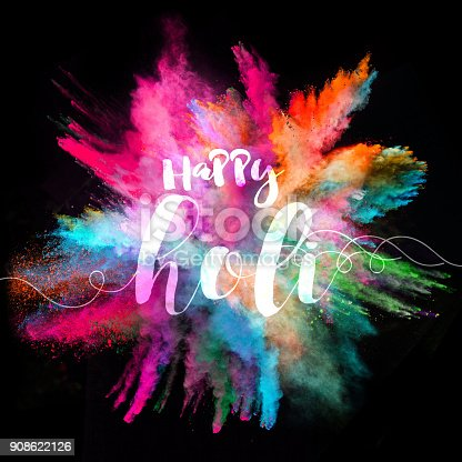 857348256istockphoto Colored powder explosion on black background 908622126