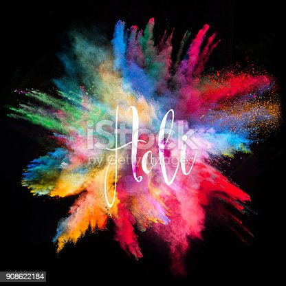 857348256istockphoto Colored powder explosion on black background 908622184