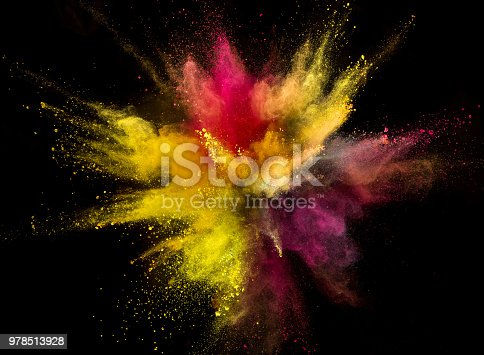 857348256istockphoto Colored powder explosion on black background 978513928