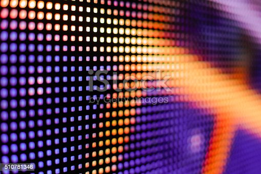 istock Colored purple and yellow LED smd screen 510781346