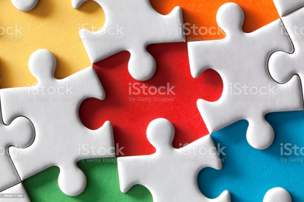 Colored puzzle stock photo