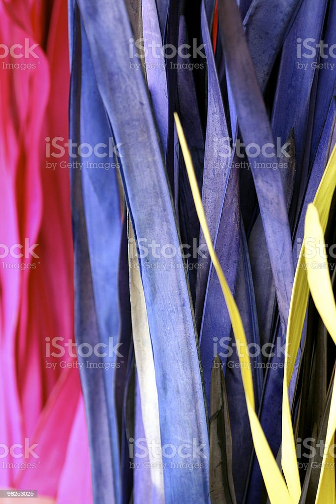 Colored reeds royalty-free stock photo