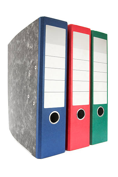 Colored Ring Binders stock photo