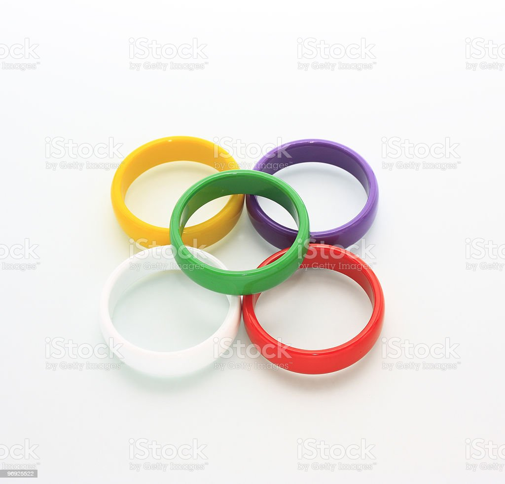 Colored rings royalty-free stock photo