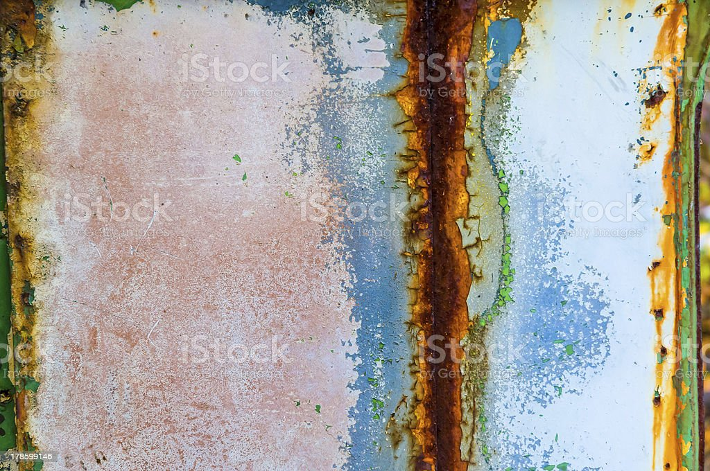 Colored Rust Metal royalty-free stock photo