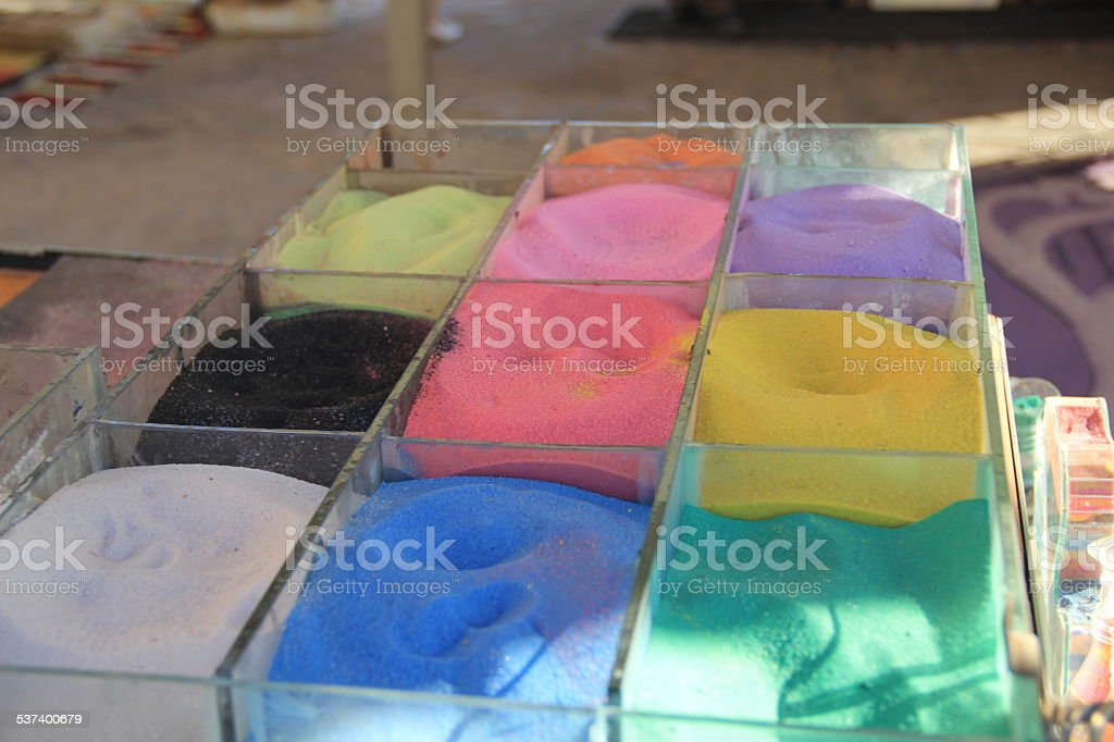 colored sand stock photo