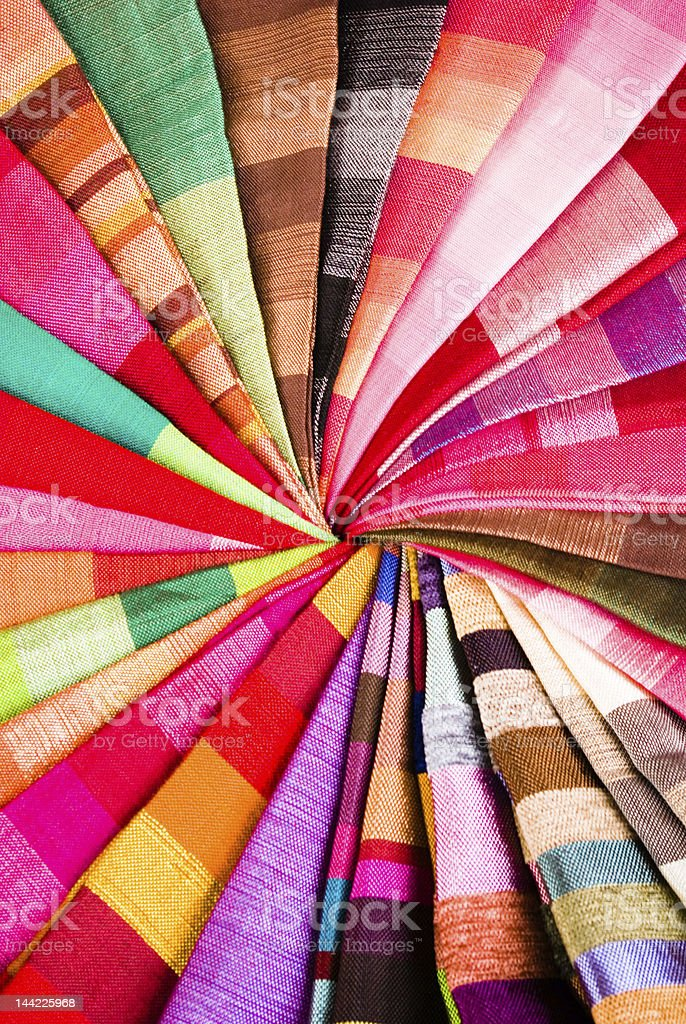 Colored scarf radial composition royalty-free stock photo